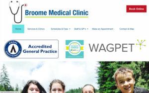 broomemedical.com.au, designed and built by Ushan Boyd from Margaret River Websites